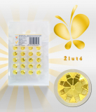 Diamanty jedlé z želé žluté 20 ks