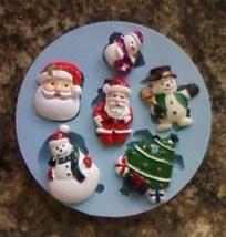 Silikonová forma vánoční motivy