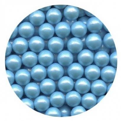 Cukrové perly perleťově světle modré