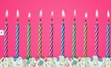 Dortové svíčky barevné  nesfouknutelné 10 ks