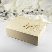 Krabička -  zlatá  perleť   motýl  10 ks