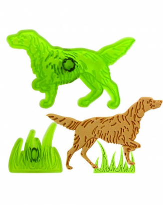 Vykrajovačka pes a tráva