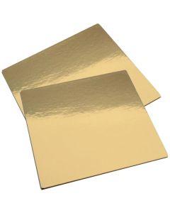 Zlatá podložka minidezert čtverec 7 x 7 cm