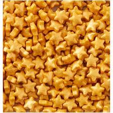 Cukrová dekorace zlaté  hvězdičky