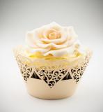 Košíčky na cupcakes  12 ks   zlaté 2