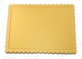 Podložka dortová zlatá vlnka čtverec  35 x 35 cm