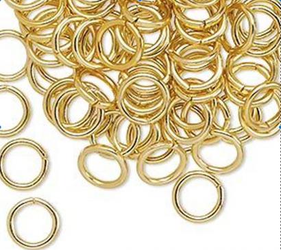 Prstýnky mini zlaté  200 ks